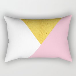 Gold & Pink Geometry Rectangular Pillow