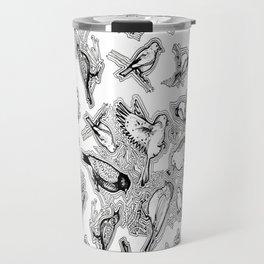 Doodle Birds Travel Mug