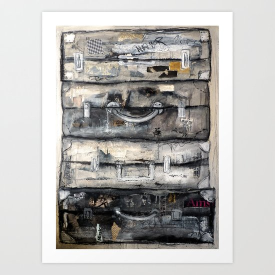 vieille valise Art Print