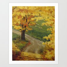 Bend in the Road Art Print