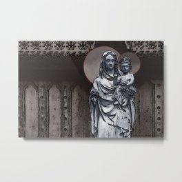Virgin Mary And Infant Jesus Christ Metal Print