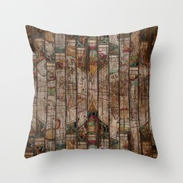Encrypted Map Throw Pillow