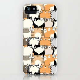 Staring Cats iPhone Case