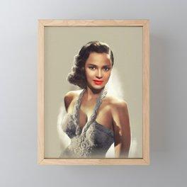 Dorothy Dandridge, Actress Framed Mini Art Print