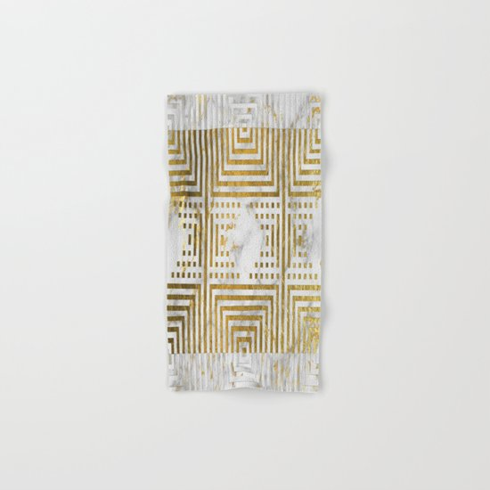 Marble and Gold Pattern #2 Hand & Bath Towel