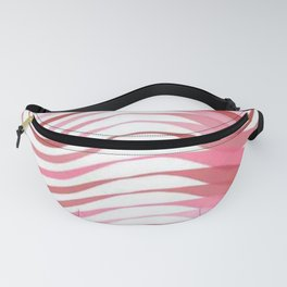 Pink and Red Ribbon Pattern Fanny Pack