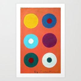 Composición con circulos 6 by Diego Manuel Art Print