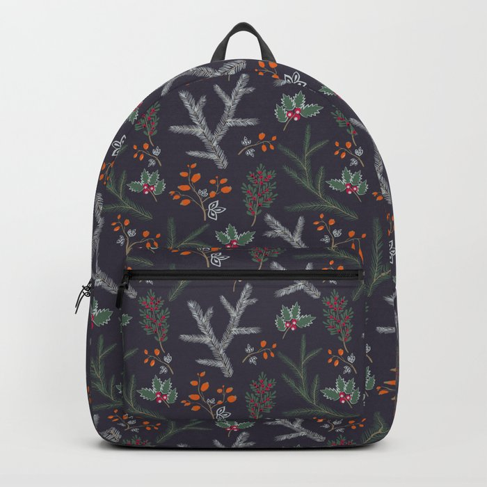 Retro. Christmas pattern . Backpack