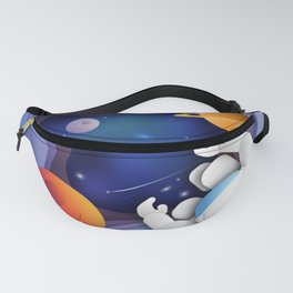 3D Paper Art Astronaut in Space Fanny Pack