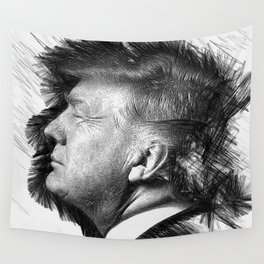 Donald Trump Wall Tapestry