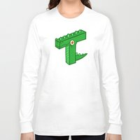 t rex Long Sleeve T-shirts featuring T-Rex by Artistic Dyslexia