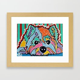 Cotton Candy Designer Dog Series Puppy Pet Westie Westy West Highland Terrier Scottish Cairn Norfolk Framed Art Print