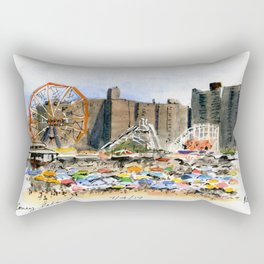 Coney Island on the Fourth of July Rectangular Pillow