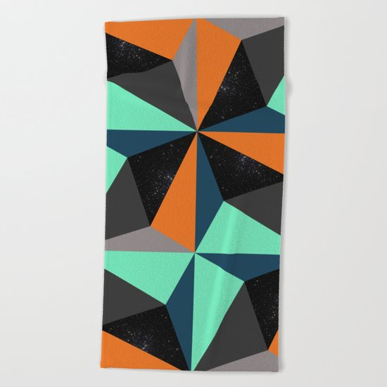 View at Night Beach Towel