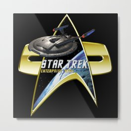 StarTrek Enterprise NX01 Com badge Metal Print