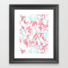 Premonition (Coral Mint) Framed Art Print