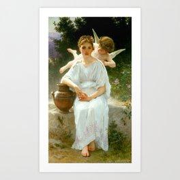 "William-Adolphe Bouguereau ""Les murmures de l'Amour (Whisperings of Love)"" Art Print"