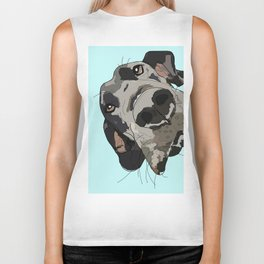Great Dane In Your Face Biker Tank