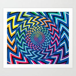 Optical Fun Art Print