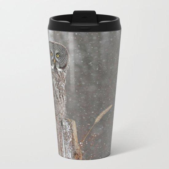 Flurries in the forecast Metal Travel Mug