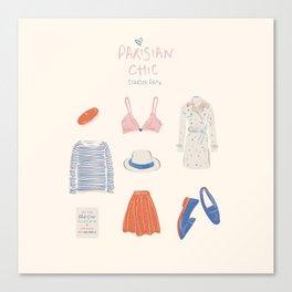 Parisian Chic: Starter Pack Canvas Print