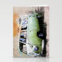 volkswagen Stationery Cards featuring vintage volkswagen by d.ts