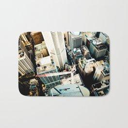 City From Above Bath Mat