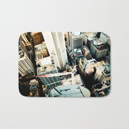 City From Above Bath Mat