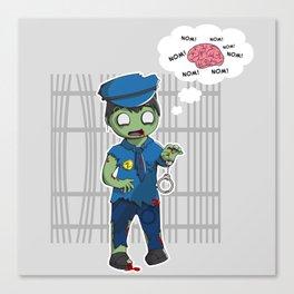 Zombie Police Canvas Print