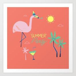 Corail Flamingo Art Print