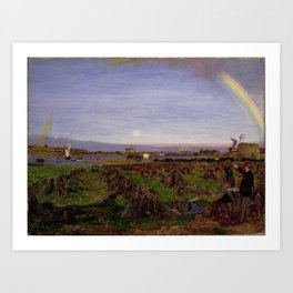 Walton-on-the-Naze by Ford Madox Brown, 1860. Art Print