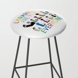 Rainbow Libraries Are For Everyone Bar Stool