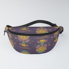 Mexican Heart Tassel (Corazon) - Purple Fanny Pack