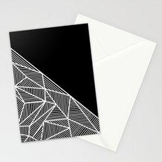B Rays Geo BW Stationery Cards