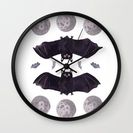Bat Time Wall Clock