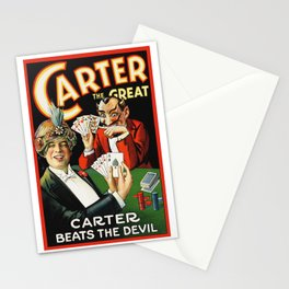 Carter The Great Magician Poster Stationery Cards