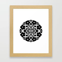 floral badge 002 Framed Art Print