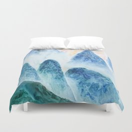 dawn in the mountain forest Duvet Cover