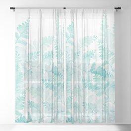 Ferns Rising Sheer Curtain