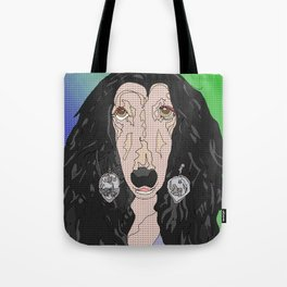 If I Could Turn Back, Dr Bear's Doggie Pop Art of Sher Tote Bag