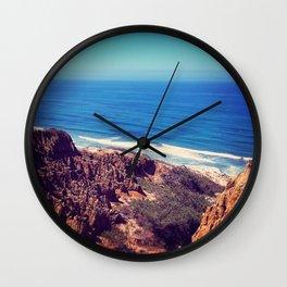 California Cliffs Wall Clock