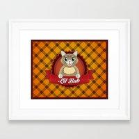 lil bub Framed Art Prints featuring Lil Bub by memetronic