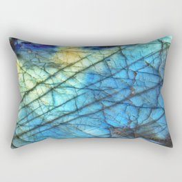 Royal Labradorite Crystal Agate Gemstone Print Rectangular Pillow