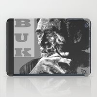 popart iPad Cases featuring Charles Bukowski -Popart - bw by ARTito