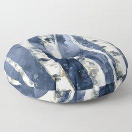 Birch forest blue Floor Pillow