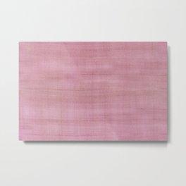 Soft Pink Dry Brush Paint Strokes, Texture Art Metal Print
