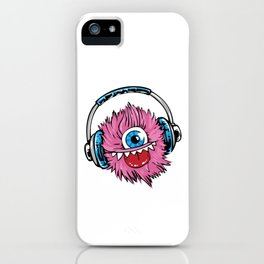 Music Monster With Headphones iPhone Case