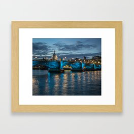 St Paul's Cathedral at Night Framed Art Print