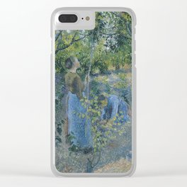 Camille Pissarro - Apple Picking 1881 Clear iPhone Case