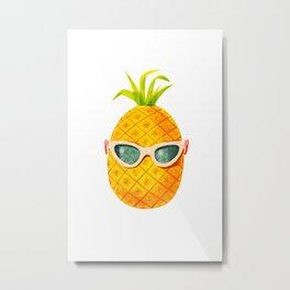 Mrs. Pineapple Metal Print